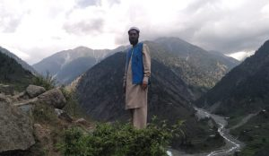Hafeez ur Rehman at his village, Kandia, Kohistan.